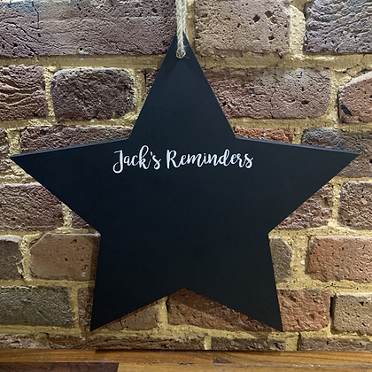Star Chalkboard, Personalised Reminder Chalkboard 520mm x 520mm