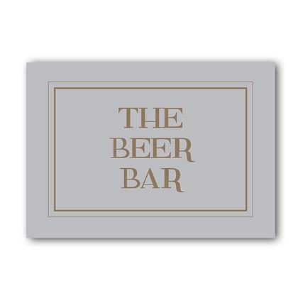 The Beer Bar Sign, Beer Sign, Beer Bar, Beer Sign