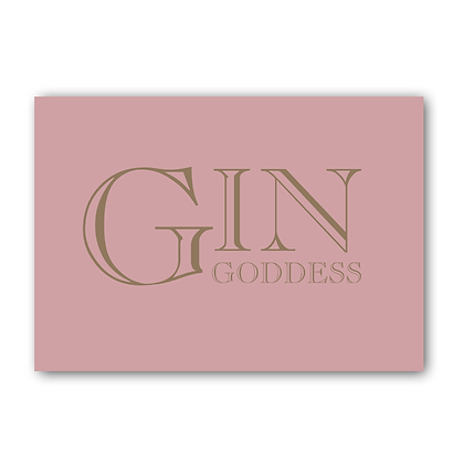Gin Goddess Sign, Gin Sign, Gin Print, Gin @ Tonic Sign