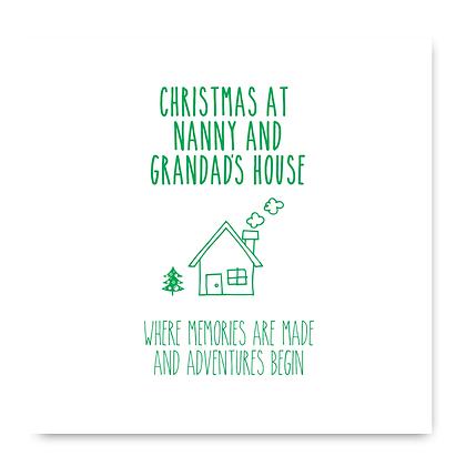 Christmas At Nanny And Grandads House card