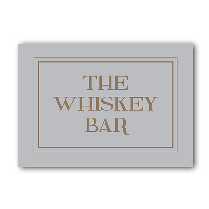 The Whiskey Bar, Whiskey Bar Sign, Whiskey Sign, Bar Sign