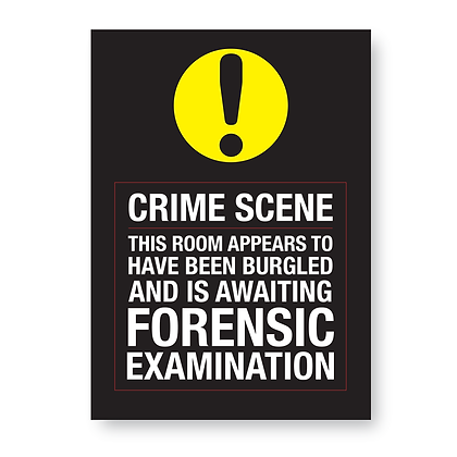 Crime Scence! Untidy Bedroom Wall Sign,Print