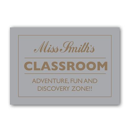 MyTeachers Classroom sign, Teacher Sign, Personalised Sign