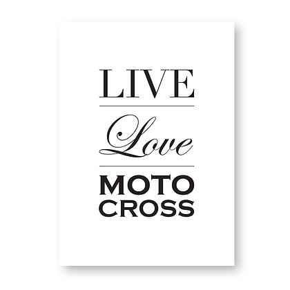 Live Love Motocross Sign