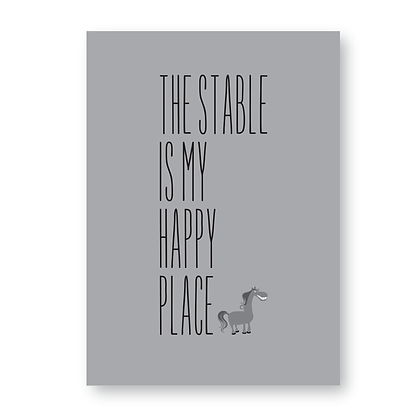 The Stable is My Happy Place Sign, Stable Sign