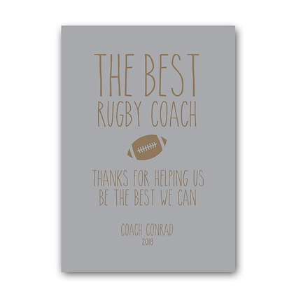 Rugby Coach Sign, The Best Rugby Coach Sign