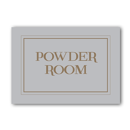 Powder Room Sign, The Powder Room Sign, Toilet Sign