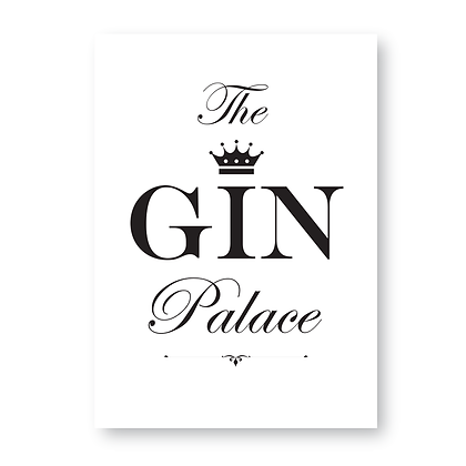 Personalised Gin Palace Sign, Gin Sign