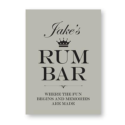 Rum Bar Sign,Personalised Rum Bar Sign, Rum Sign