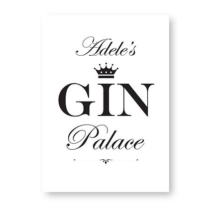 Personalised Gin Palace Sign, Gin Sign, Gin Palace