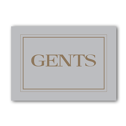 Gents Sign,Gents Toilet Sign, Toilet Sign, Loo Sign