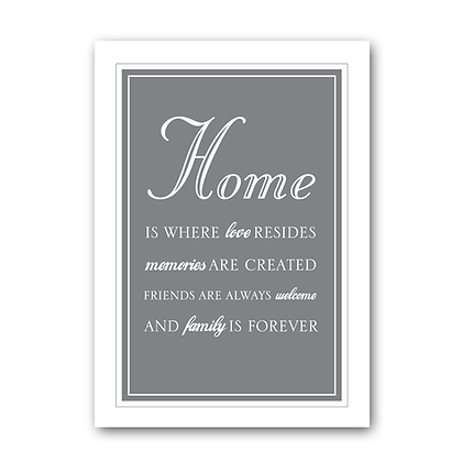 Home Is Where Love resides...