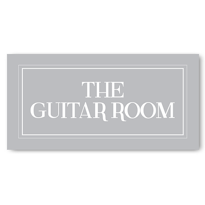 The Guitar Room - Sign