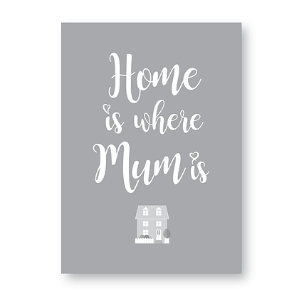 Home Is Where Mum Is! Print, Sign, Plaque