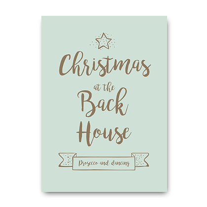 Personalised Christmas Print, Prosecco and Dancing Sign! Prosecco Sign