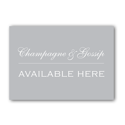 Champagne & Gossip Available Here