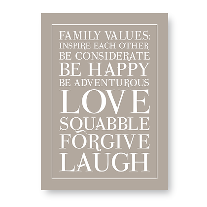 Family Values!