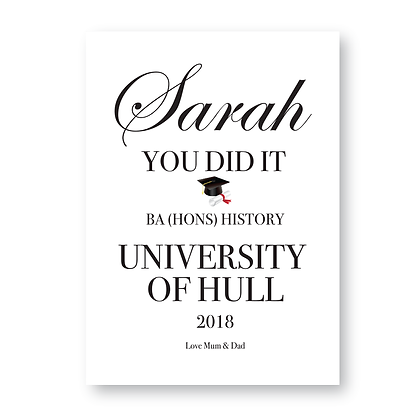 You Did IT Graduation Sign,Graduation Gift, University Graduation Sign