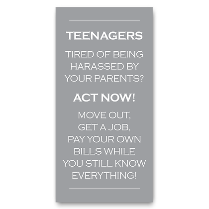 Teenager House Rules