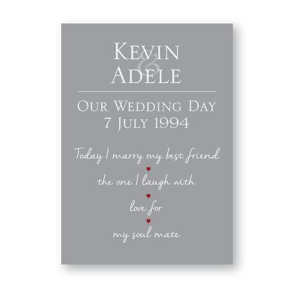 Personalised Wedding Print
