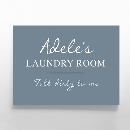 Landry Room Sign Personalised Laundry Room Sign