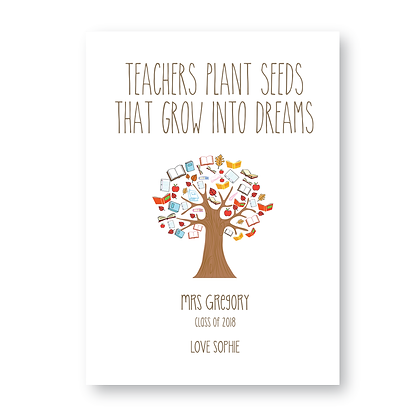Teachers Plant Seeds That Grow sign Teacher Sign, Personalised Sign