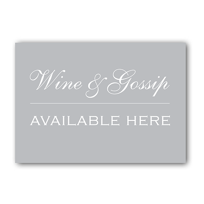 Wine & Gossip Available Here