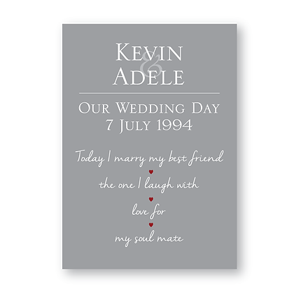 Personalised Wedding date print