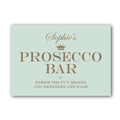 Prosecco Bar Sign,Personalised Prosecco Bar Sign, Prosecco Sign