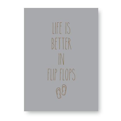 Life Is Better In Flip Flops Sign, Flip Flop Sign
