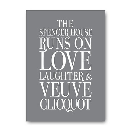 Personalised This House Runs on Love Champagne!