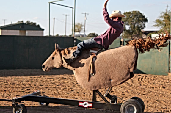 Quad Bronc, mechanical horse
