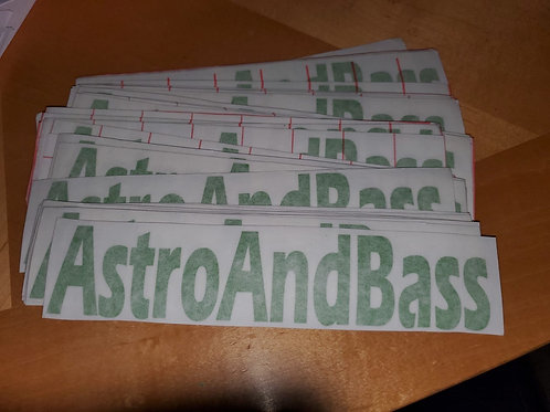 "AstroAndBass 8"" Decal"