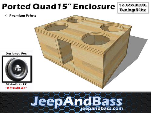 "4 15"" Box Design (Fits Tahoe/Suburban))"