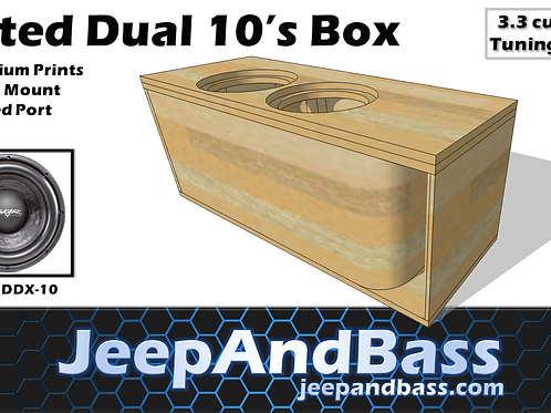 "Dual 10"" Box Design (Kerfed Port)"
