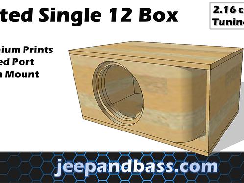 "Single 12"" Box Design (Kerfed Port)"