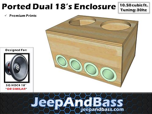 """Dual 18"""" Aero Port Box Design"""