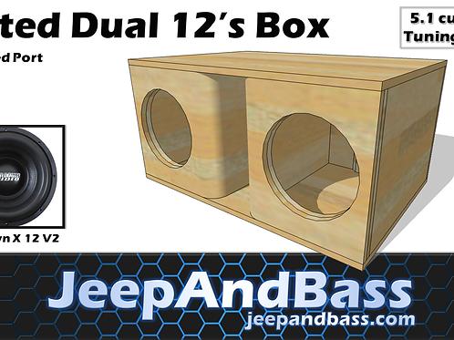"Dual 12"" Box Design (Kerfed Port)"