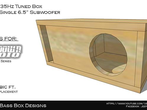 """Single 6.5"""" Box Design"""
