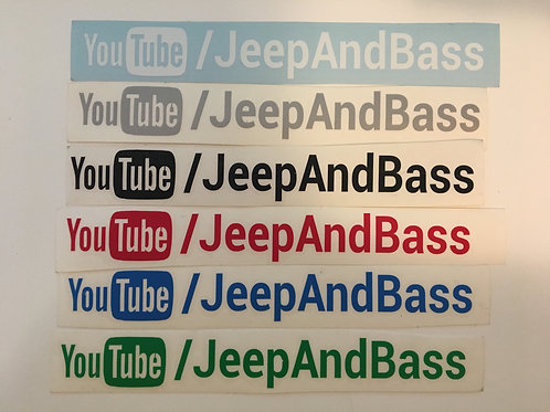 "JeepAndBass 8"" Decal"