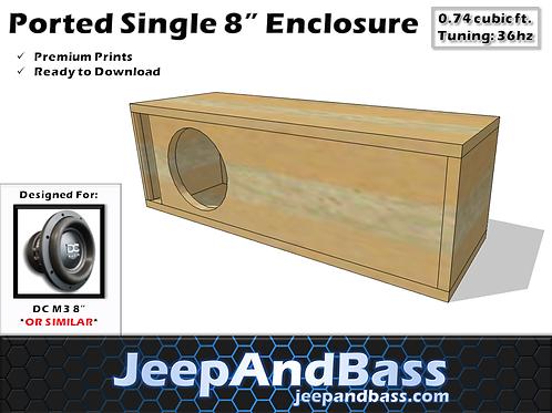 """Single 8"""" Enclosure Design"""