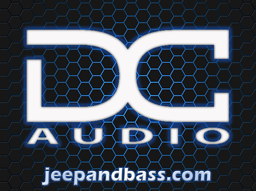 "DC Audio 6"" Decal (White)"