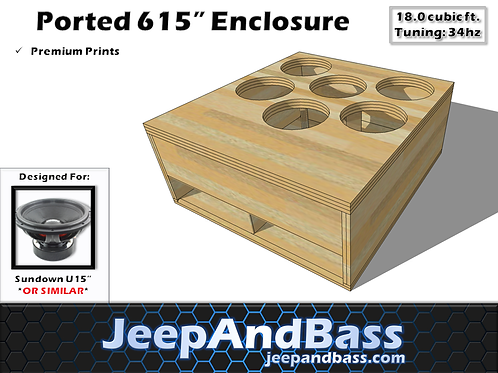 "6 15"" Box Design (Fits Tahoe/Suburban)"