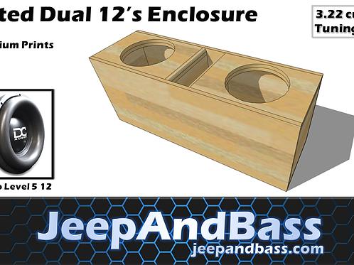 """Dual 12"""" Box Design (Truck or SUV)"""