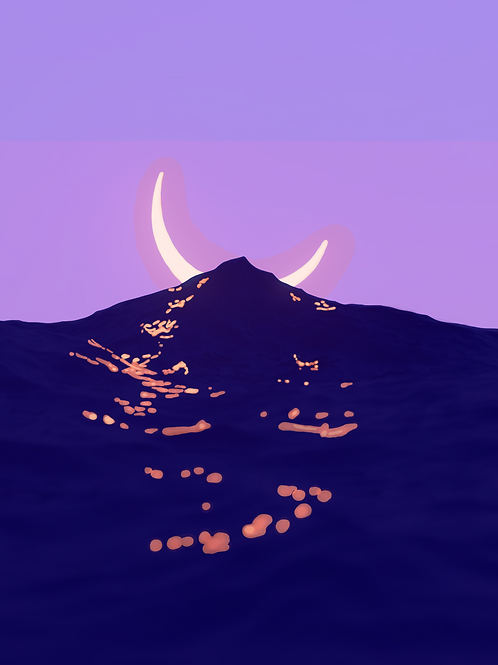 A Waning Crescent Moon