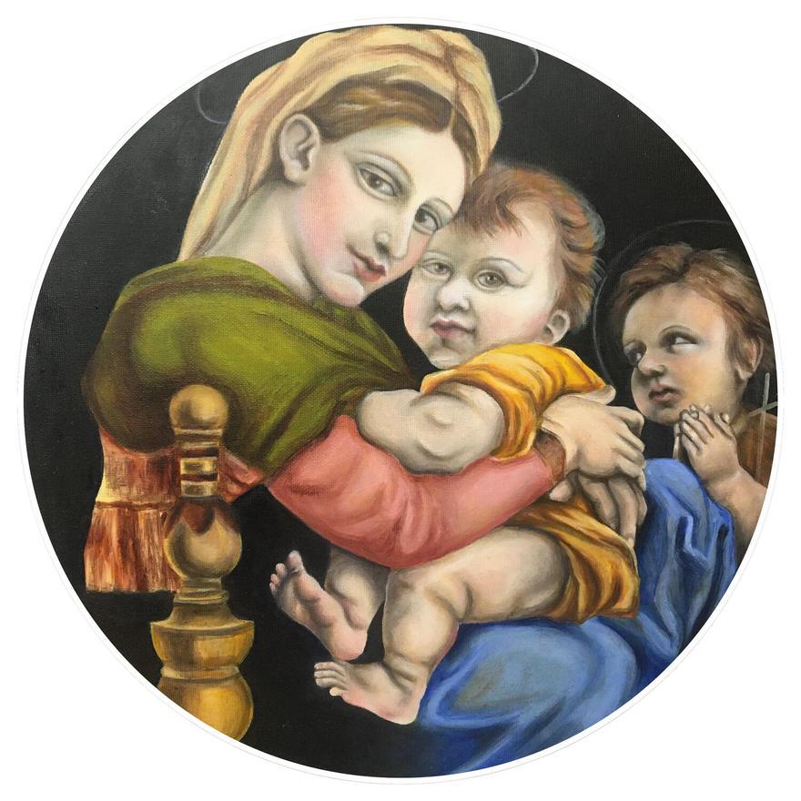 Study of Madonna della Seggiola by Raphael