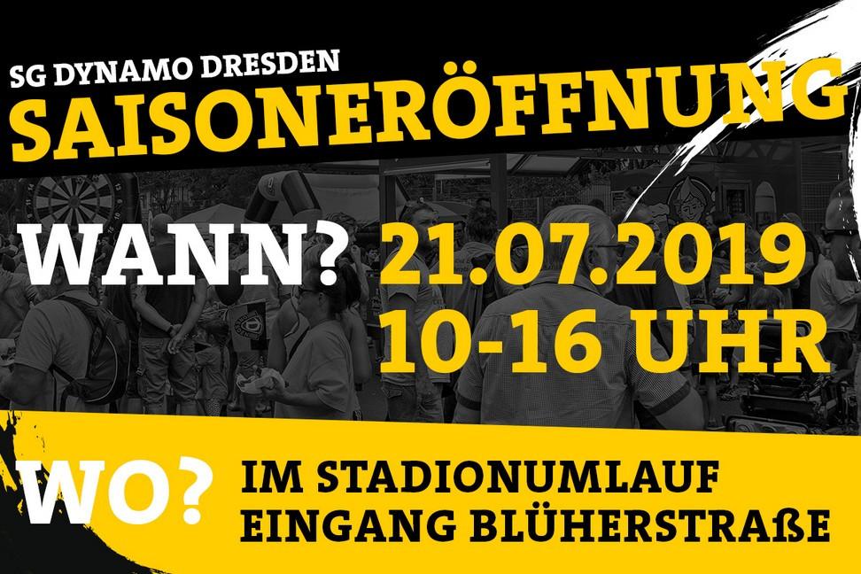 Wohin in Dresden - Schwarz-Gelbe Saisoneröffnung am 21. Juli