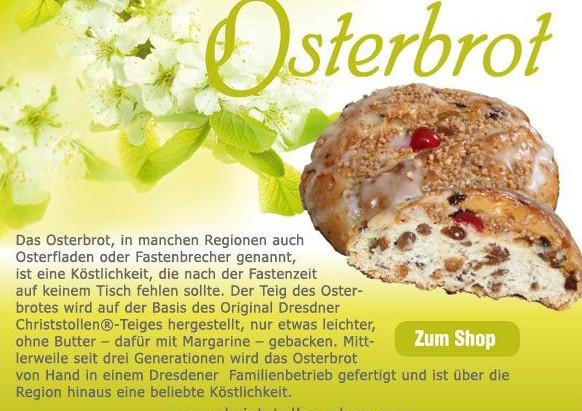 Sächsisches Osterbrot zum Osterfest