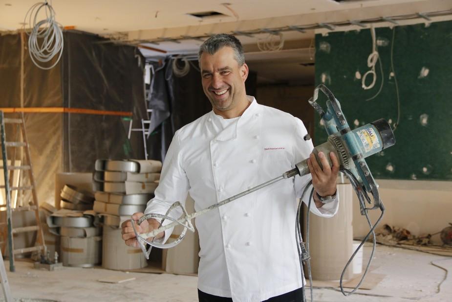 Gerd Kastenmeier im künftigen Restaurant