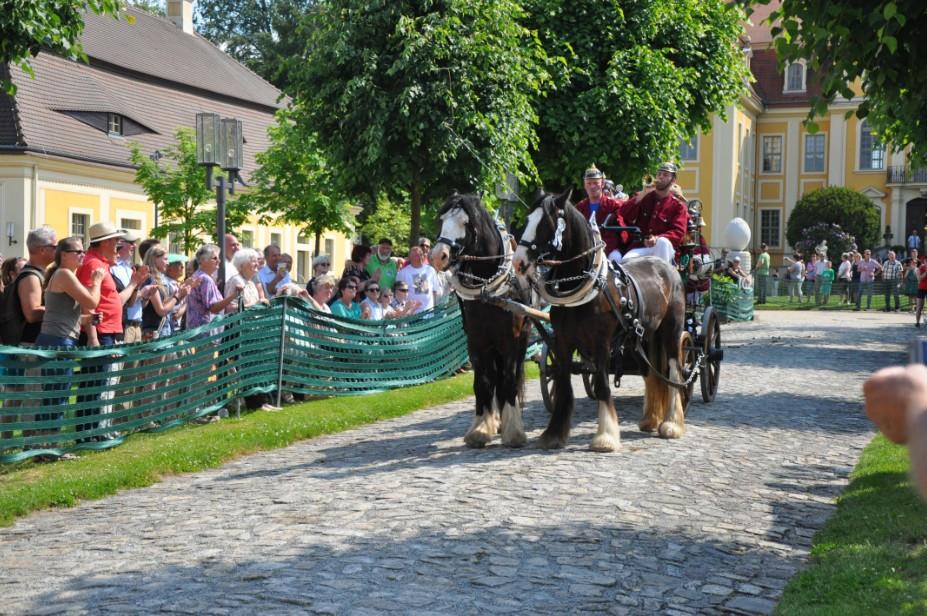 Lust auf Sachsen - Pferdegespanne bei der Schlossrundfahrt